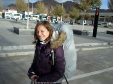 Amandine arrived in Lhasa