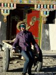 Amandine at Old Tingri, Tibet