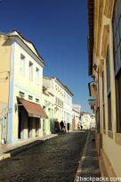Streets of São João del-Rei with its colonial façades