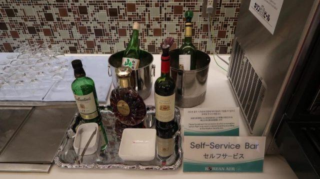 Alcoholic Selection KAL Lounge Narita Airport