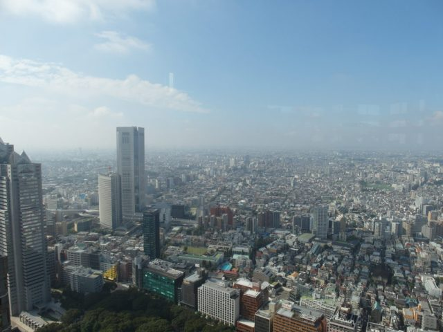 Views from North Tower of Tokyo Metropolitan Government Building
