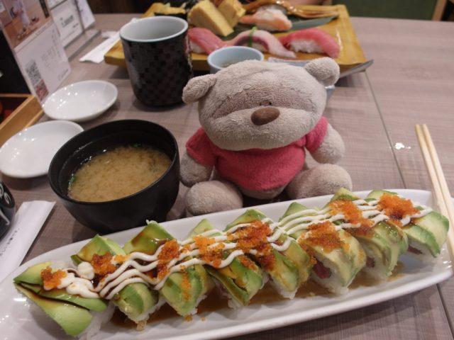 California Roll (800 yen) Midori Sushi Shibuya Mark City