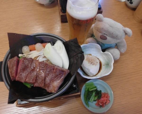 Hida Takuma Takayama Hoba Miso Hida Beef Steak (4600 yen)