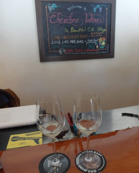 Wine tasting at Chesebro Wines Carmel Valley