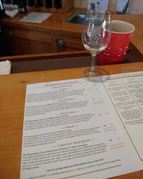 Wine Tasting List @ Boekenoogen Winery Tasting