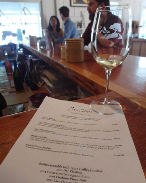 Wine Tasting List @ Cima Collina Tasting