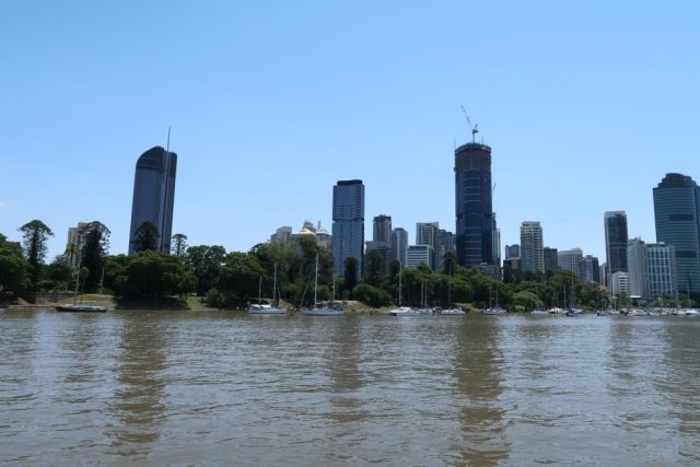 Views of Brisbane City from CityHopper