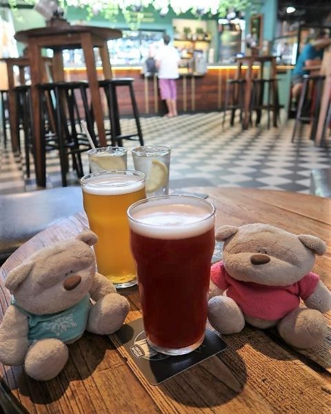 Pints of Dinkleberry ($12) and Brisbane Pale Ale ($10) at Brisbane Brewing Company