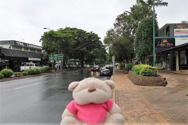 Rainy day at Noosa Heads Sunshine Beach Road