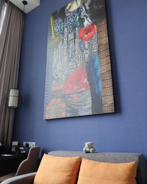 Full length artwork of Loft Room Mercure Singapore Bugis