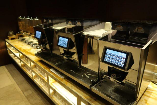 Coffee machines SilverKris Lounge Singapore