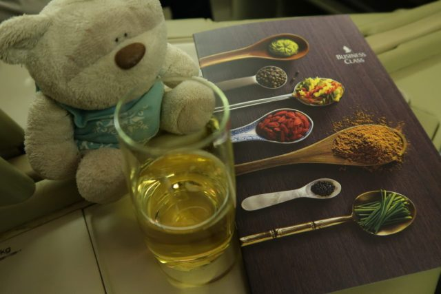 Singapore Airlines Business Class Menu Singapore to Beijing