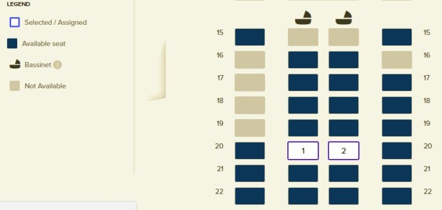 Singapore Airlines Business Class Flight from SG to Beijing, Seating Arrangements 1-2-1
