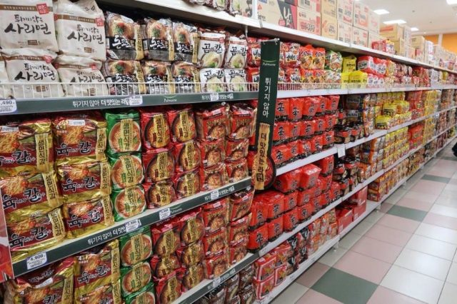 South Korean Instant Noodles as Souvenirs