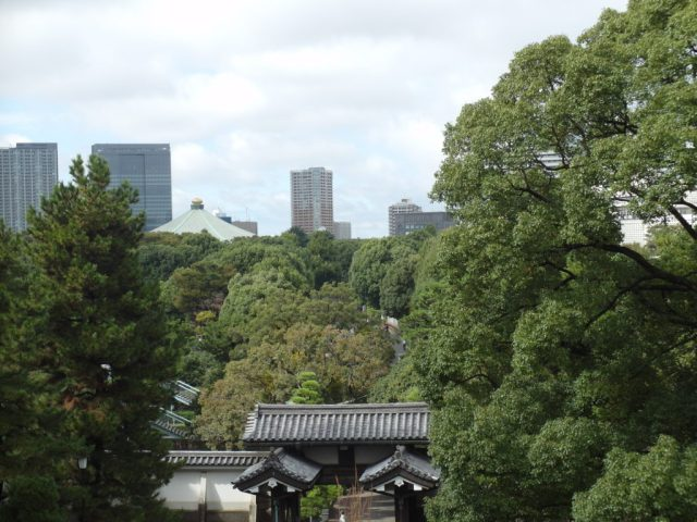 View from Fortress of Imperial Palace Gardens