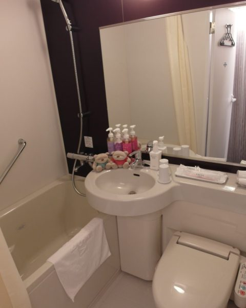 In-room Bathtub at Sotetsu Fresa Inn Tokyo Jimbocho