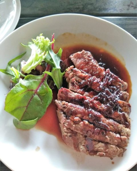 The Pelican Sunday Champagne Brunch Review: NY Striploin Steak