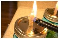 DIY Mason Jar Citronella Candle Oil Lamp - 2 Bees in a Pod