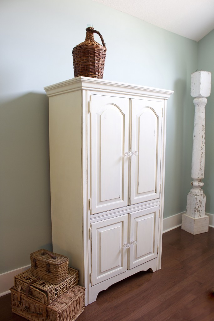 Chalk Painted Armoire Makeover  2 Bees in a Pod