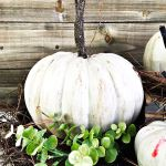 Painted Pumpkins And Diy Stems 2 Bees In A Pod