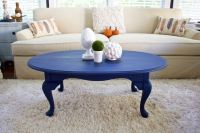 Coffee Table Makeover in Napoleonic Blue Chalk Paint - 2 ...