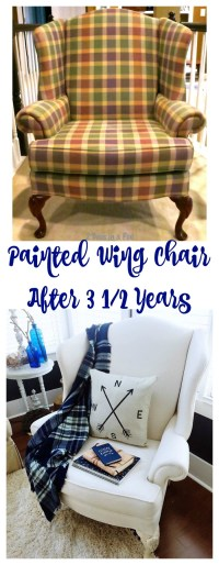 Painted Wing Chair and Update - 2 Bees in a Pod