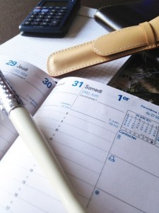 A schedule book