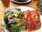 Kathy's delicious homemade vegetarian lasagne