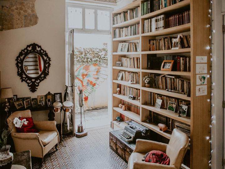 At home library