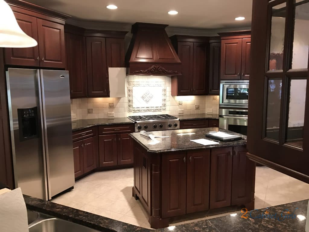 White Kitchen Cabinets With Light Gray Island Edgecomb Gray & Ashley Gray - 2 Cabinet Girls