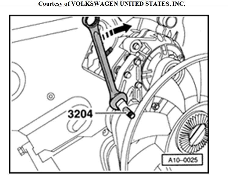 How to Change the Fan Belt on 1998 VW Passat 1.9tdi