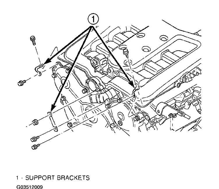 Service manual [1998 Dodge Intrepid Upper Intake Removal