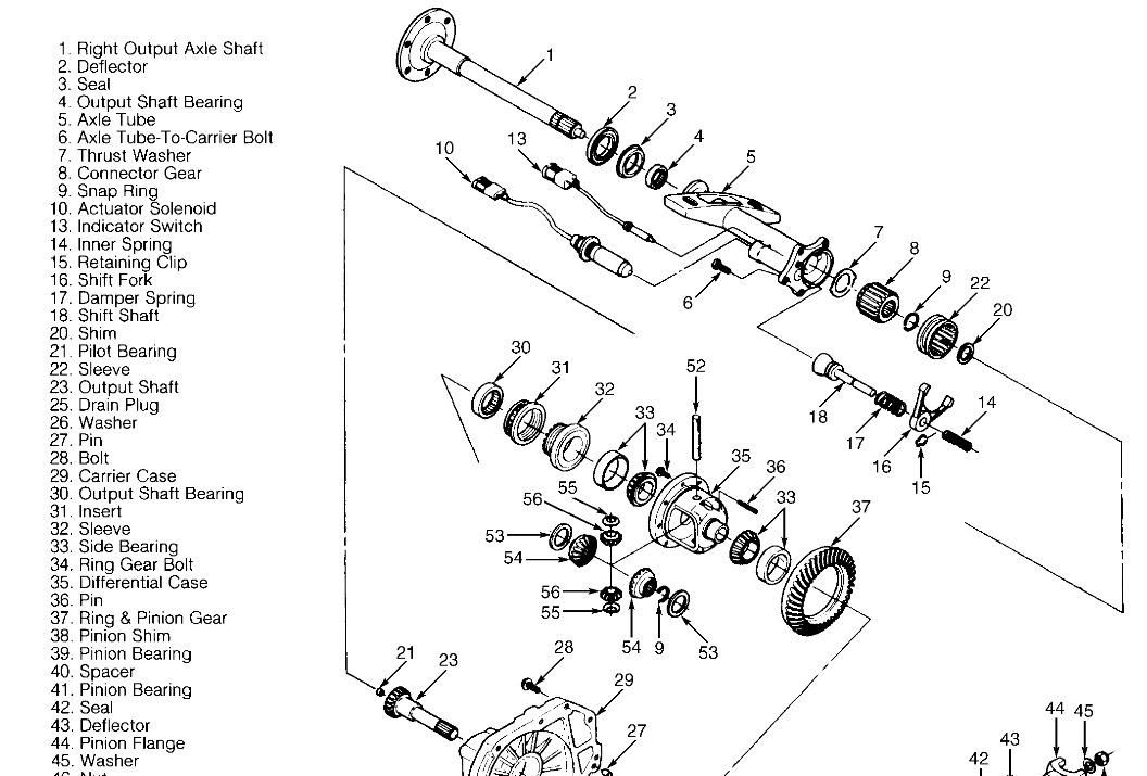 1997 GMC Sierra Passenger Differential Tube: Took