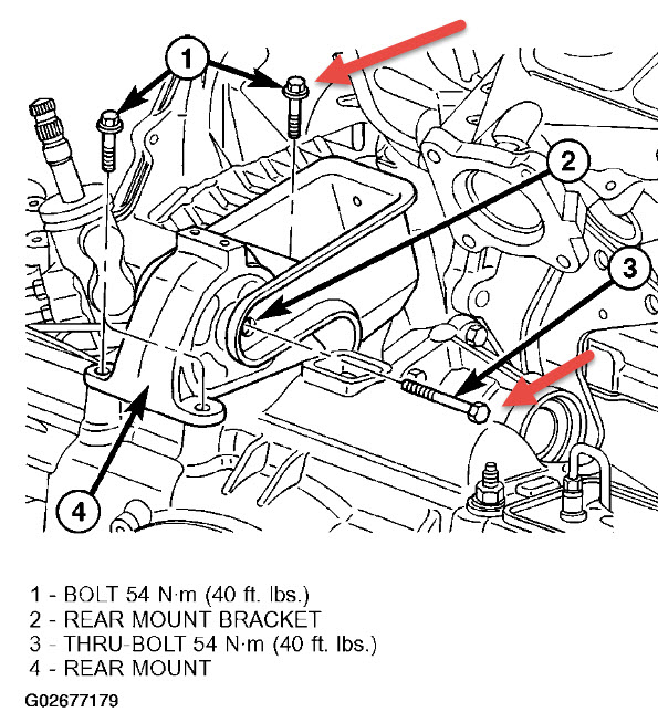 2002 Dodge Caravan Rear Engine Mount: I Am Trying to