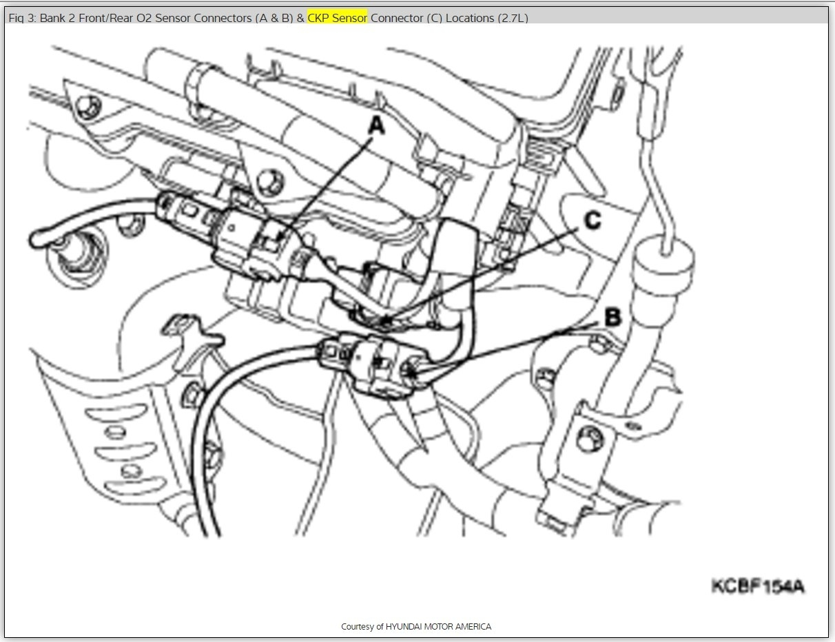 Crankshaft Sensor Location Six Cylinder Two Wheel Drive