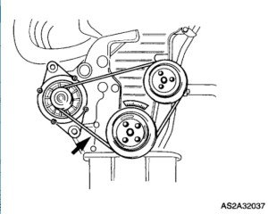 2003 Kia Spectra Replacing Alternator Belt: 2003 Kia