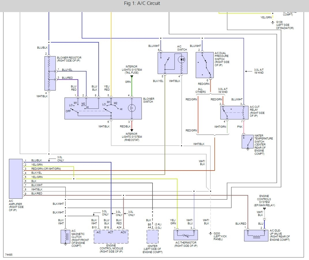 stereo wiring diagram for 1994 toyota 4runner scully thermistor a c relay location i need to locate the