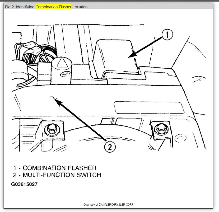 Turn Signal Relay Location: Electrical Problem 6 Cyl 56000