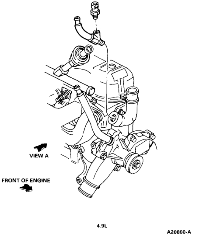 Location of Coolant Temperature Sensor: Engine Cooling