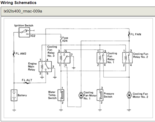Electric Radiator Fan Wiring Diagram Where Is The Cooling Fan Motor Relay