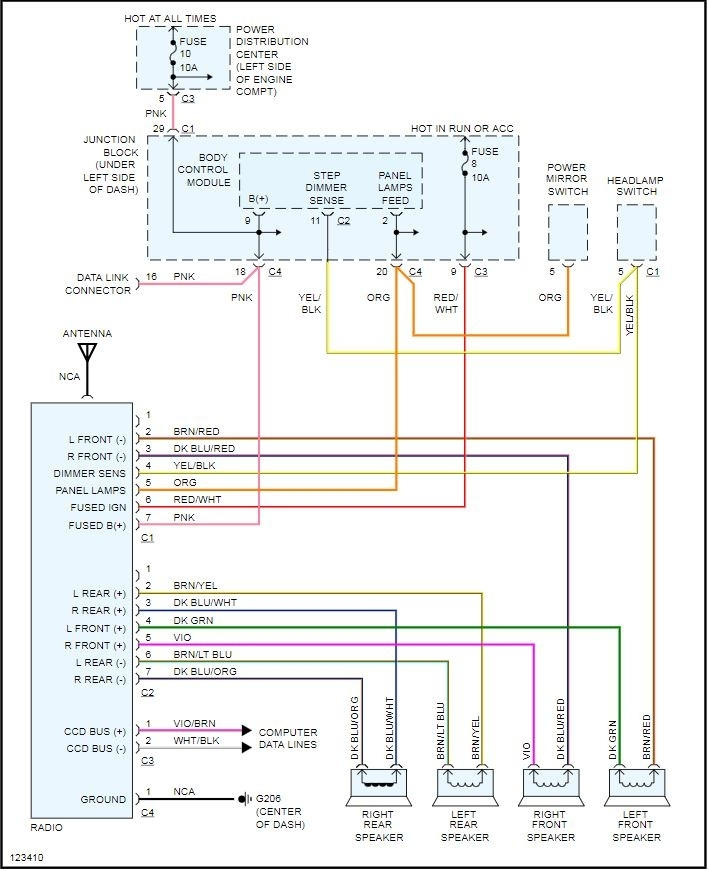 2008 Dodge Charger Factory Radio Wiring Diagram : dodge, charger, factory, radio, wiring, diagram, Chrysler, Radio, Wiring, Diagrams, Supercars, Gallery