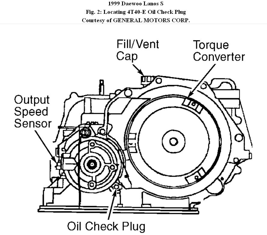Daewoo Nubira Transmission Diagram