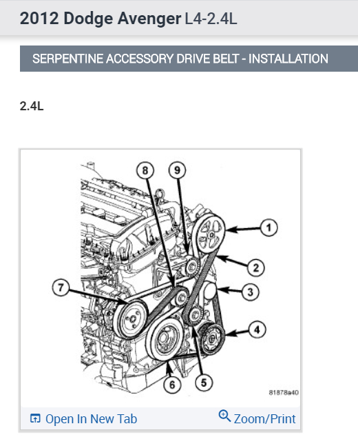 2011 dodge avenger serpentine belt diagram