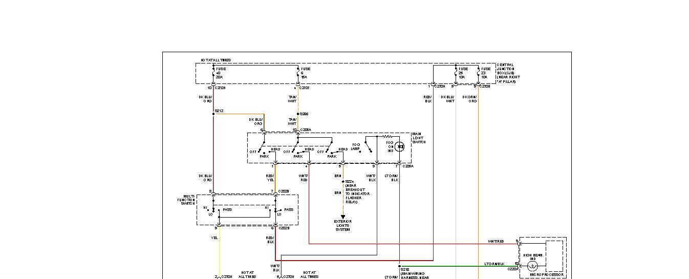Headlight Diagram For 06 F150: Need The Headlight Wiring