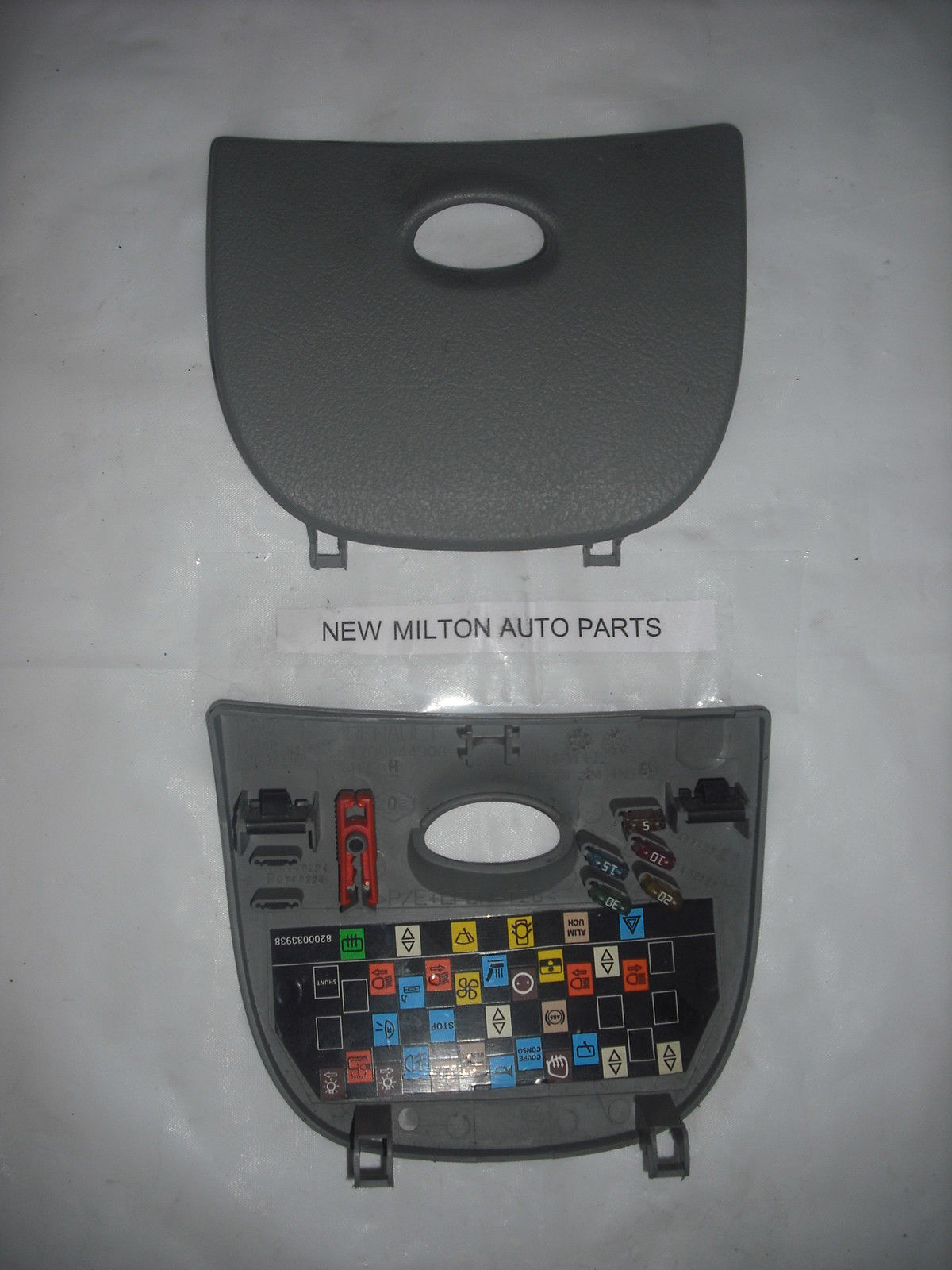 hight resolution of 1996 2003 renault scenic mk1 dash fuse box cover trim panel door light grey