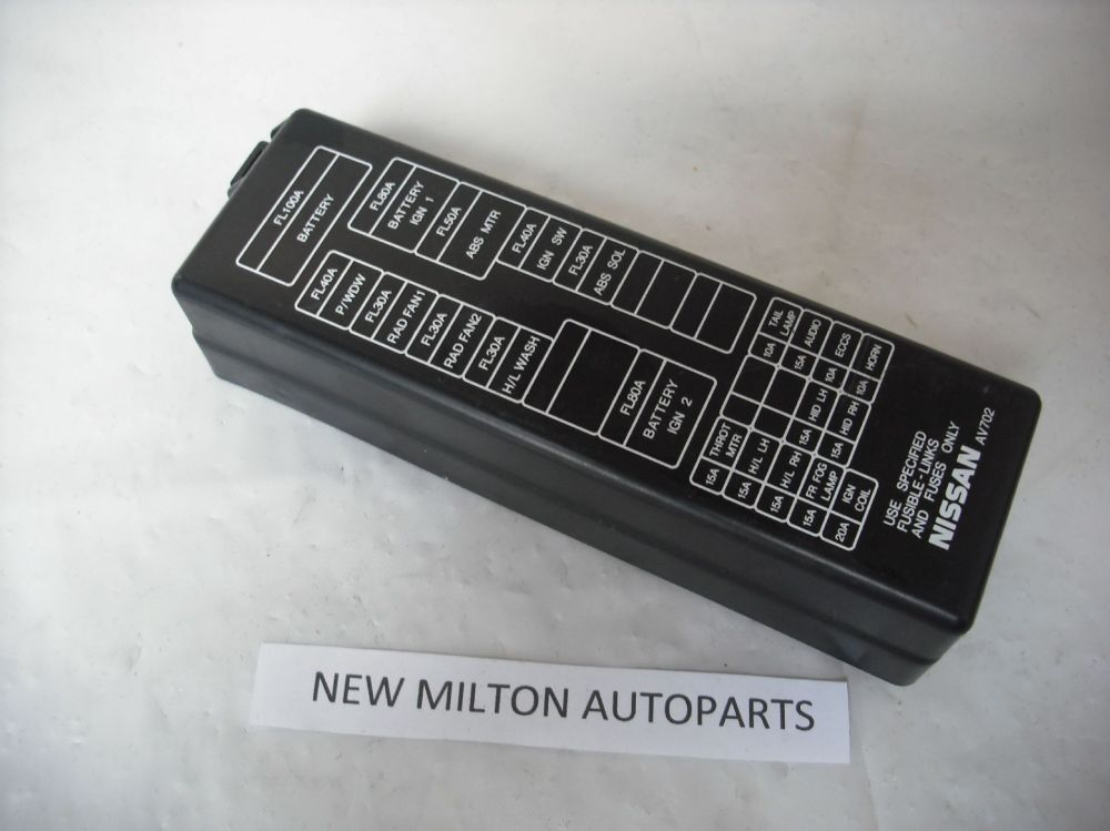 medium resolution of nissan primera p12 engine bay fuse box cover lid
