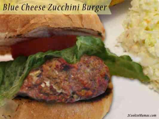 Blue Cheese Zucchini Burger
