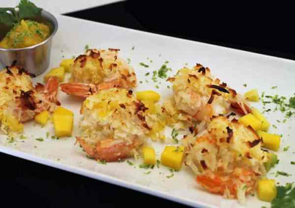 Coconut Shrimp with Mango Salsa 700 | 2 Cookin Mamas