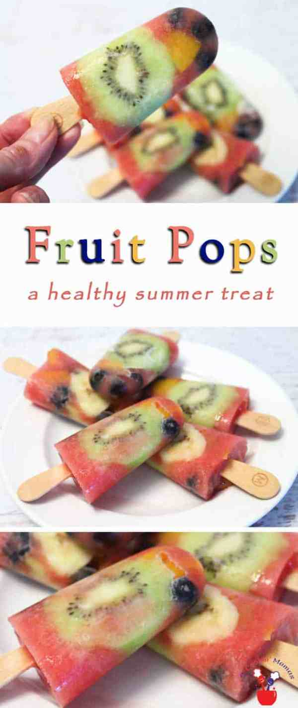 Fruit Popsicles | 2 Cookin Mamas Popsicles for breakfast? Yep, these easy, healthy breakfast popsicles pack one big nutritional punch. And they make a great snack any time of day.