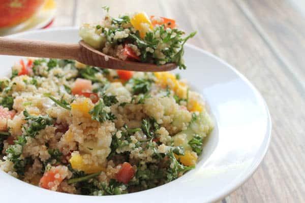 Quinoa Tabouli closeup | 2CookinMamas